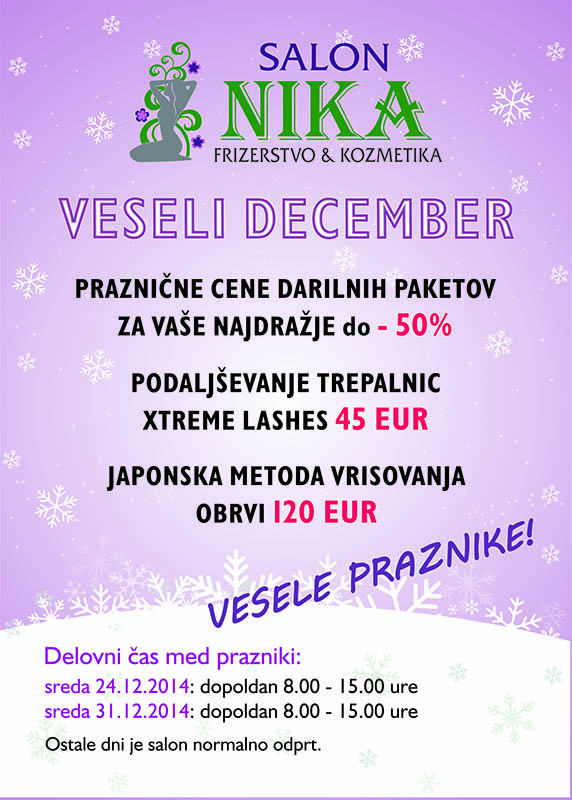 PLAKAT - VESELI DECEMBER